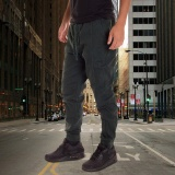 Compare Men Chino Jogger Pants Casual Drop Crotch Jogging Twill Blackish Green Intl Prices