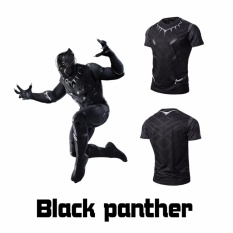 Get Cheap Men Compression Shirt Marvel Comics Superhero Black Panther Muscle Fit Tee Shirts Fitness Clothing