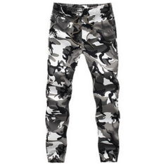 Sale Men Cotton Skinny Joggers Camo Pants Camouflage 2 Intl Online On China