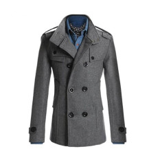 Sale Men Double Breasted Coat Fashion Winter Jacket Overcoat Windbreaker Intl Online On China