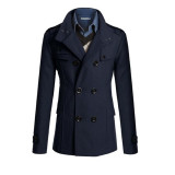 Where To Buy Men Double Breasted Coat Fashion Winter Jacket Overcoat Windbreaker Intl