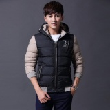 Men Down Jackets Detunable Hooded Coat Winter Keep Warm Coat Casual Men S Thick Down Overcoat Black Intl Lowest Price