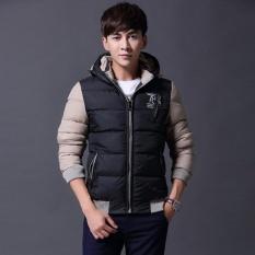 Shop For Men Down Jackets Detunable Hooded Coat Winter Keep Warm Coat Casual Men S Thick Down Overcoat Black Intl