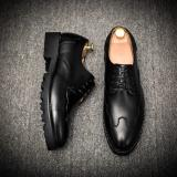 Review Men Dress Shoes Brogue Oxfords Black Business Wedding Shoes Flats Shoes Handsome High Quality Intl Oem