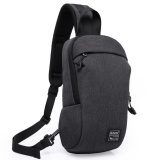 Who Sells The Cheapest Men Fashion Anti Theft Design Sling Bag Oxford Casual Daypack Chest Backpack Black Intl Online