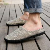 Men Fashion Casual Loafer Slip On Linen Shoe Khaki Intl Review
