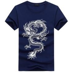 Brand New Men Fashion Summer Dragon Printed Short Sleeve Round Neck Men T Shirt Intl
