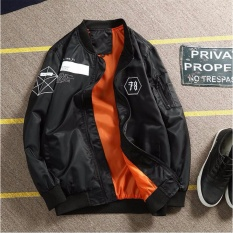 Men Flight Jacket Air Force Embroidered Badge Baseball Bomber Jackets Intl Promo Code