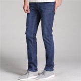 Latest Men Jeans Straight Thin Slim Male Trousers Business Casual Intl