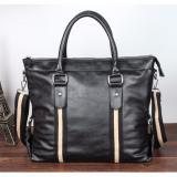 Men Korean Leather Messenger Bag Black Discount Code