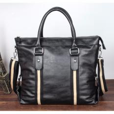 Buy Men Korean Leather Messenger Bag Black Oem Original