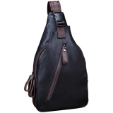 Top Rated Men Korean Trend Chest Bags Men Package Shoulder Bag Small Leather Cross Body Men Messenger Bags Blue Intl