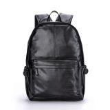 Sale Men Leather Backpack Pu Sch**l Bag Laptop Backpack Hiking Travel Bag Black Intl Not Specified Branded
