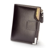 Cheaper Men Leather Wallets Short Male Purse Clutch Mens Money Bag Wallet Credit Card Holder With Zipper Intl