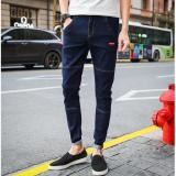 Buy Men Long Jeans Korean Street Nine Pants Cropped Pants Slim Denim Skinny Pants Leisure Teens Pants Casual Student Trousers Intl Online