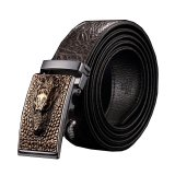 Cheapest Men Luxury Crocodile Genuine Leather Automatic Belt Mbt08911 2 Coffee