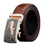 Get Cheap Men Luxury Crocodile Genuine Leather Automatic Belt Mbt08912 3 Brown