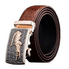 Men Luxury Crocodile Genuine Leather Automatic Belt Mbt08912 3 Brown Deal