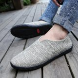 Review Men New Style Fashion Casual Shoe Slip On Linen Loafer Khaki Intl Fancy Fashion On China