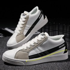 Compare Prices For Men Night Luminous Suede Skater Couple Sneakers Sport Shoes White Black