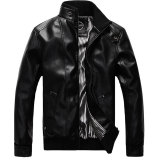 Men S Korean Style Fashionable Big Size Slim Fit Jacket With Stand Collar Black Black Coupon