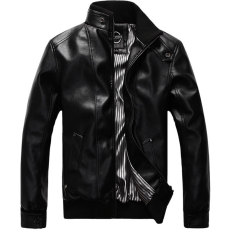 Get Cheap Men S Korean Style Fashionable Big Size Slim Fit Jacket With Stand Collar Black Black