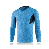 Men Quick Dry Sports Running Fitness Compression T Shirts Long Sleeve Tight Gym Jogging Shapewear Tops Blue Intl Review
