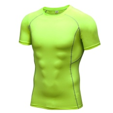 Men Running Fitness Gym Body Shaper Compression T Shirt Tee Short Sleeve Shapewear Muscle Tights Sports Tops Green Intl Oem Cheap On China