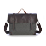 Men Shoulder Messenger Bag Retro Briefcase Leisure Business Man Bag Grey Intl For Sale