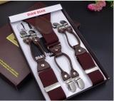 Buy Men Six Clip Strap 3 5 Jacquard Strap Six Clip Printing Webbing Wide Strap Strap Intl Online