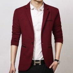 Price Men Slim Fit Fashion Cotton Blazer Suit Jacket Black Blue Khaki Plus Size M To 5Xl Male Blazers Mens Coat Wedding Dress Red Oem China