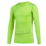 Buy Cheap Men Sports Running Fitness Compression Shirts Tight Base Layer Gym Body Shaper T Shirts Long Sleeve Tops Green Intl