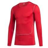 Price Comparisons Men Sports Running Fitness Compression Shirts Tight Base Layer Gym Body Shaper T Shirts Long Sleeve Tops Red Intl