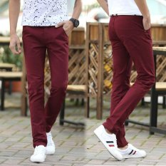 Men Straight Business Casual Pants Trousers Thin Cotton Pant Intl For Sale