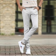 Buy Men Straight Business Casual Pants Trousers Thin Cotton Pant Intl