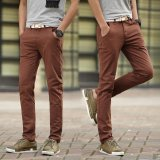 For Sale Men Straight Business Casual Pants Trousers Thin Cotton Pant Intl