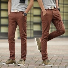 Best Rated Men Straight Business Casual Pants Trousers Thin Cotton Pant Intl