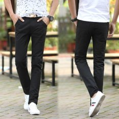 Cheaper Men Straight Business Casual Trouser Male Pants Trousers Thin Summer Cotton Pant Intl