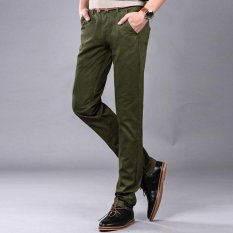 Sales Price Men Straight Cotton Pants Casual Male Pant Business Trousers Intl
