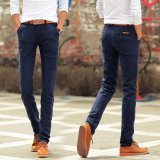 Price Comparisons Men Straight Cotton Pants Casual Trousers Male Slim Pant Intl