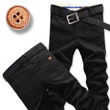 Buy Men Straight Slim Fit Plus Sized Men S Pants Casual Pants Black On China