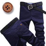Men Straight Slim Fit Plus Sized Men S Pants Casual Pants Dark Blue Color Other Cheap On China