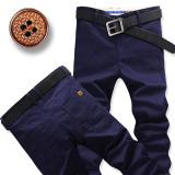 Where To Shop For Men Straight Slim Fit Plus Sized Men S Pants Casual Pants Dark Blue Color
