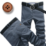 Brand New Men Straight Slim Fit Plus Sized Men S Pants Casual Pants Gray