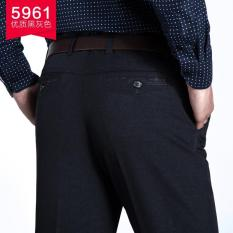 Best Rated Men Suit Pants Work Office Pants Business Casual Straight Classical Dress Pants Male Large Size Black Intl