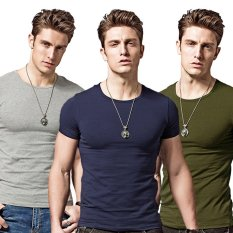 Cheapest Men Summer O Neck Short Sleeve Casual T Shirt Intl Online