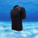 Best Reviews Of Men Swimwear Summer Short Sleeve Printing Diving Rashguard Surf Snorkeling Swim Tee Tops T Shirts Black With Grey Thread Intl