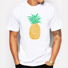 Sale Men White T Shirt 2017 New O Neck Short Sleeve Cartoon Pineapple Printed T Shirt Funny Tee Shirts Hipster Tops Camisetas Hombre Intl Oem On China