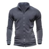 Men Winter Casual Sport Solid Color Cotton Jacket Outerwear Dark Grey Intl Price