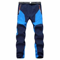 Recent Men Winter Thicked Warm Outdoor Waterproof Pants For Hiking Camping Cycling Ski(Blue) Intl